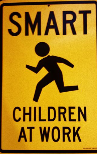 Smart children at work