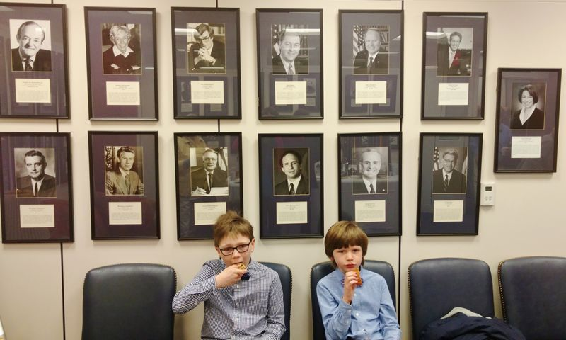 Boys at klobuchar office