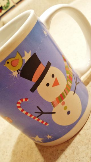 Snowman coffee cup