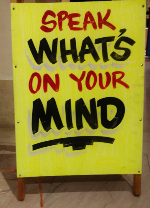 Speak whats on your mind