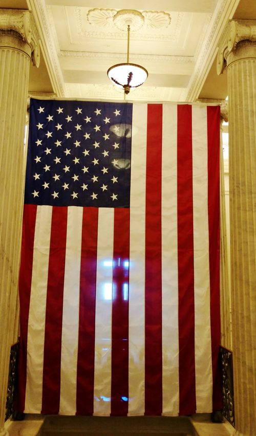 Flag in capitol (3)